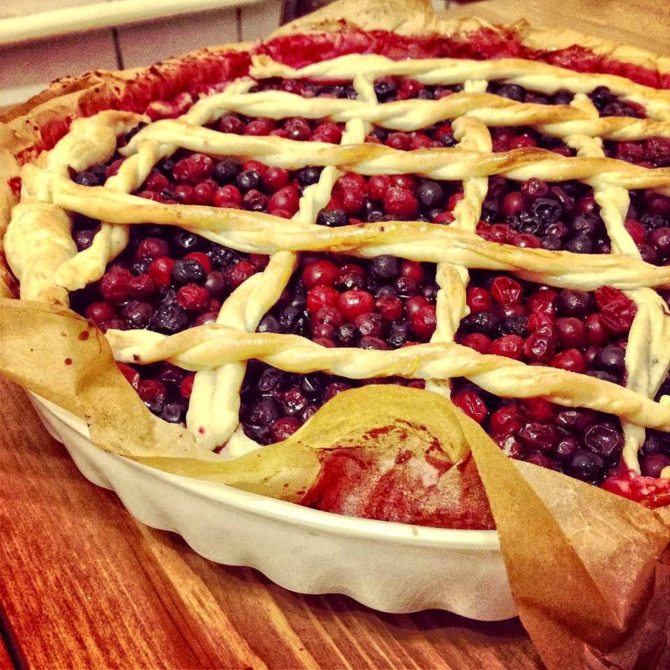 Брусничный пирог быстрый рецепт — pic 1