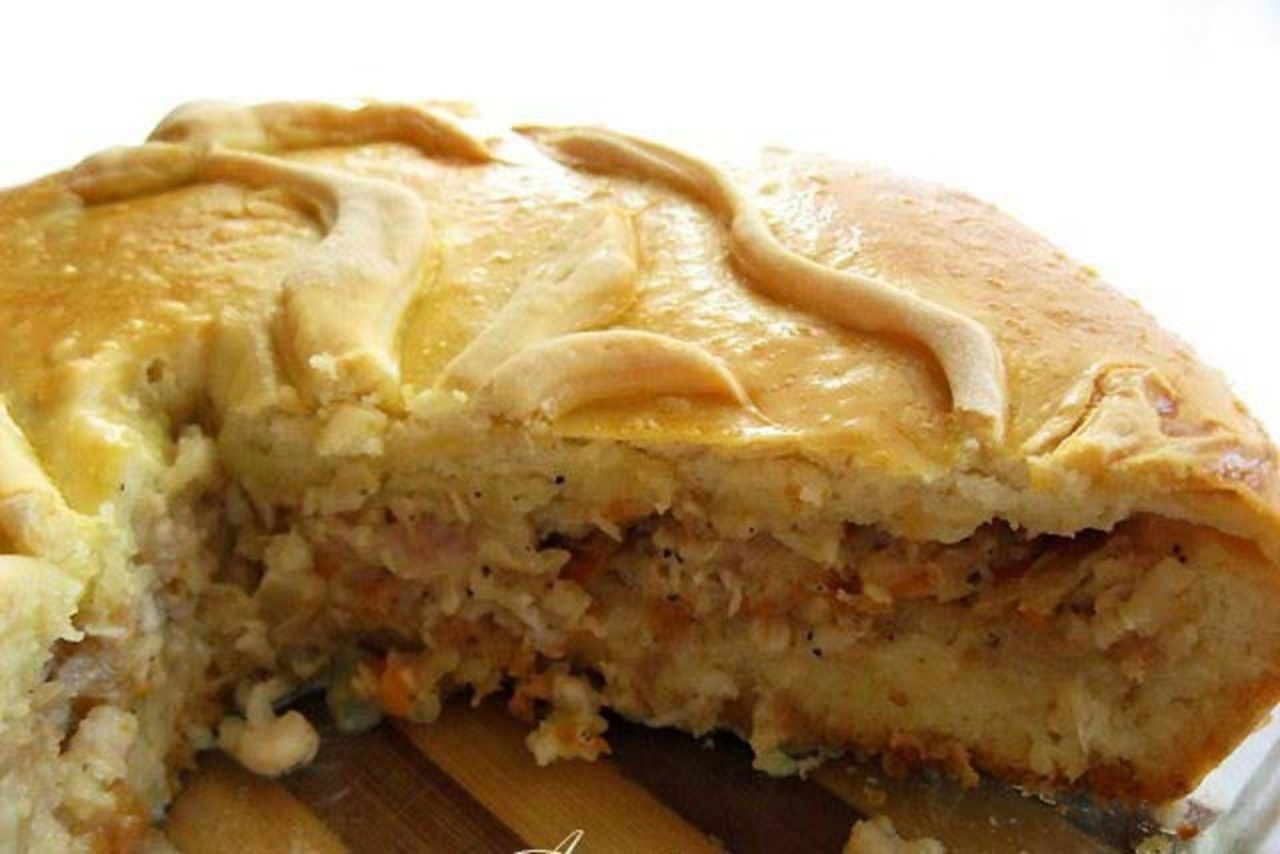 Пирог с рыбными консервами и картошкой рецепт пошагово в духовке