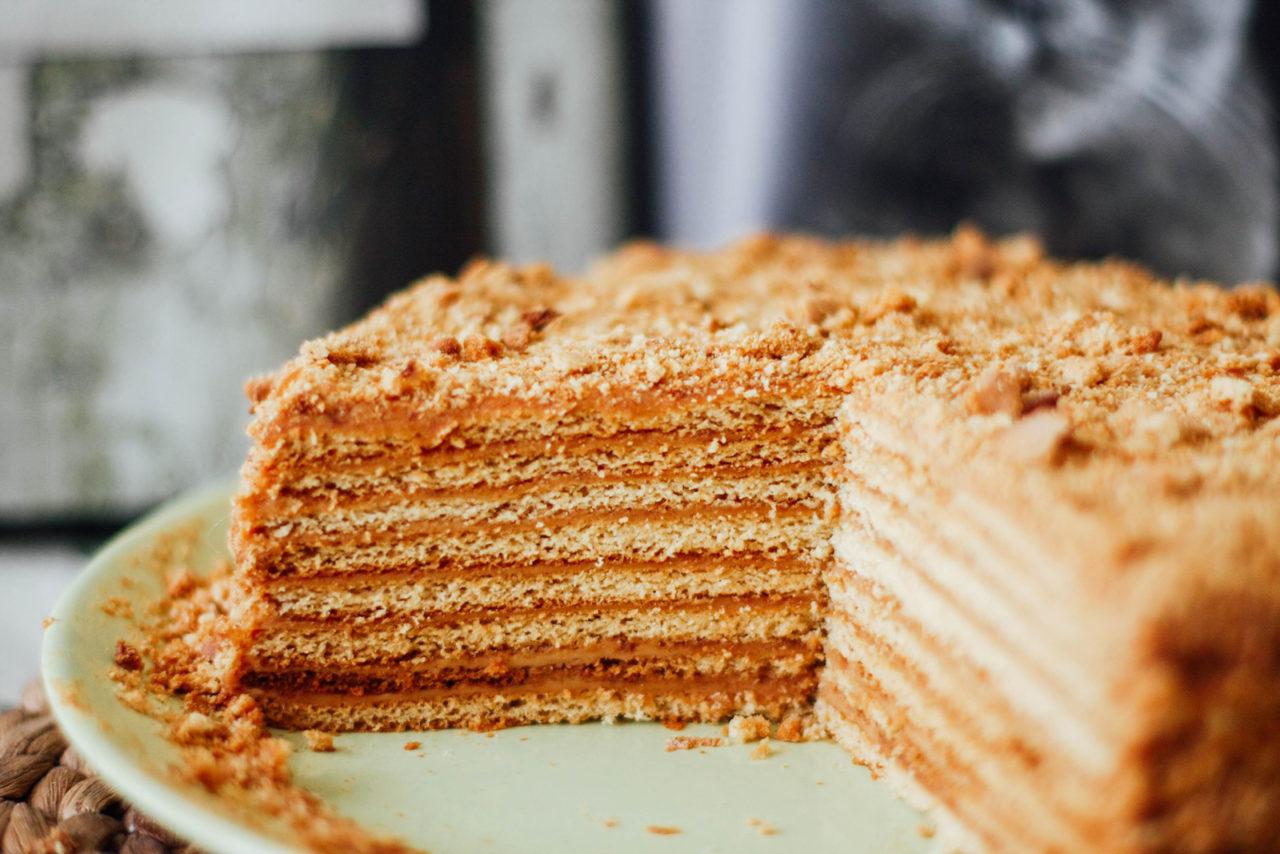 Торт рыжик крем рецепт пошагово