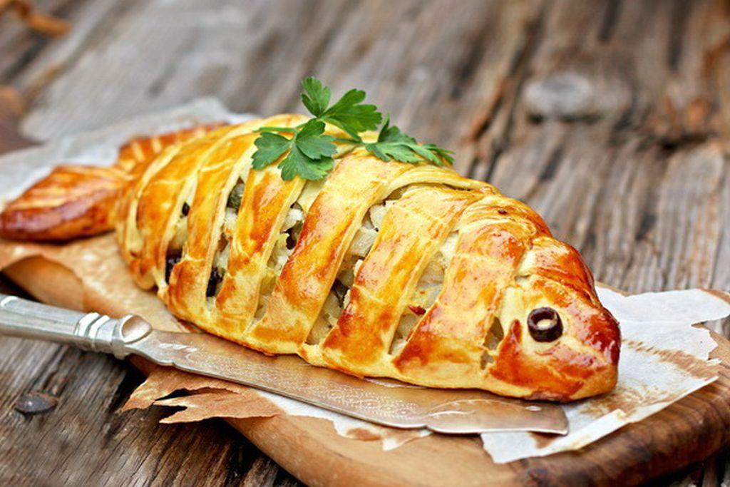 14-1 Рыбный пирог открытый и закрытый || Пирог с рыбой мастер классы
