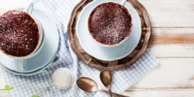 Шоколадный кекс в микроволновке - рецепт пошаговый с фото