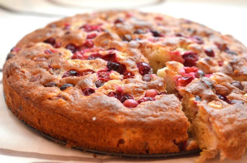 Пирог с клюквой: пошаговое приготовление