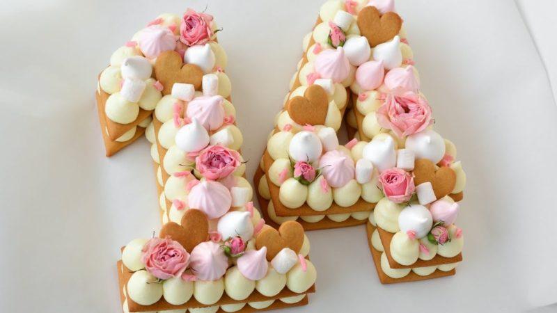 Торт на годовщину свадьбы – цифра