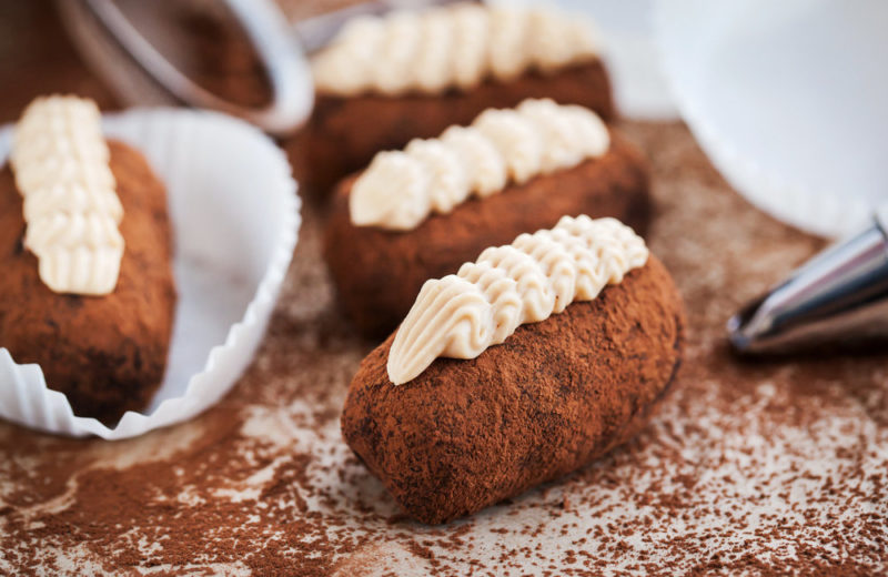 Пирожное Картошка из печенья с вином