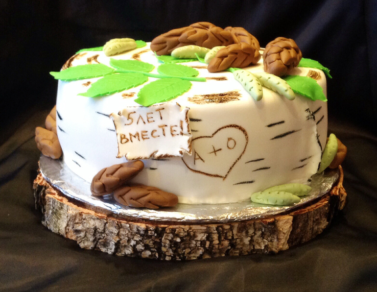 Торт на годовщину свадьбы – пятилетний юбилей