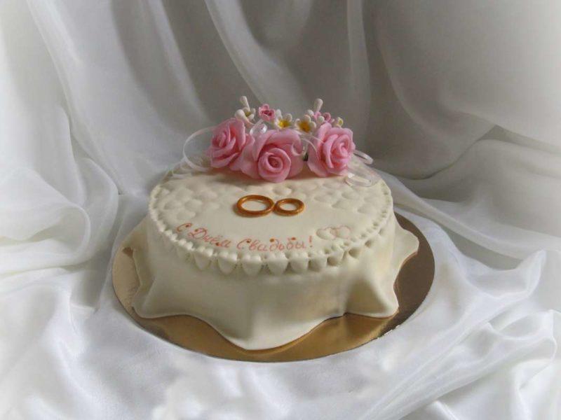 Торт на годовщину свадьбы – первая годовщина