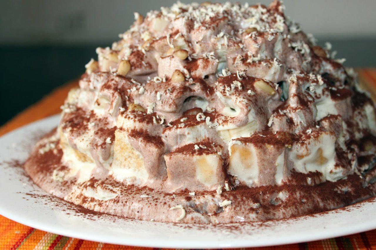 Торт «Панчо» с ананасами из готовых коржей