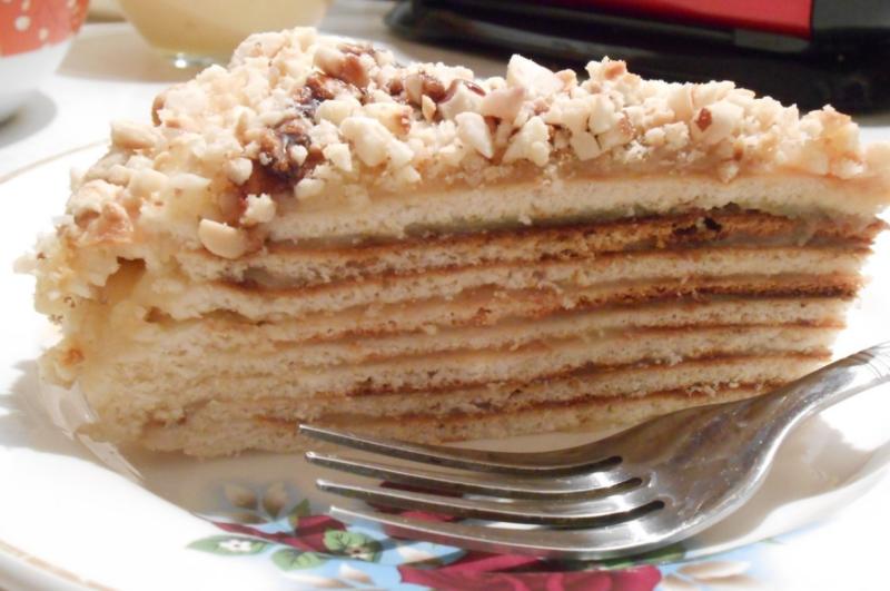 Торт на сковороде с кофейным вкусом
