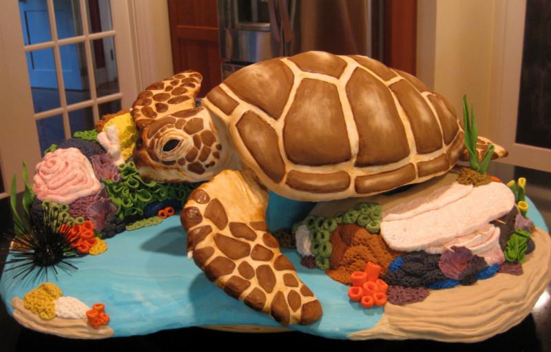 Как оформить торт Черепаха