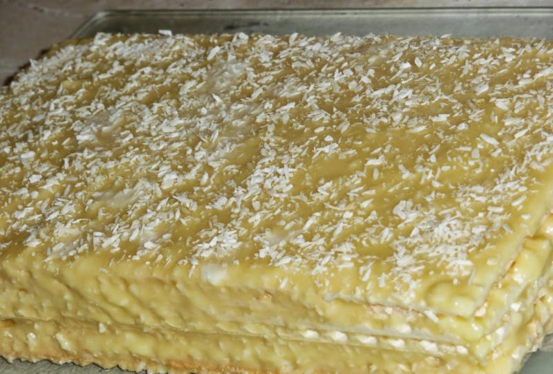 Вафельный торт прослойкой из творога