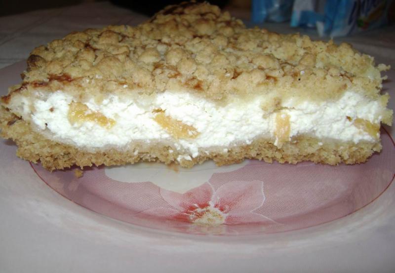 Творожный пирог с крошкой по-деревенски