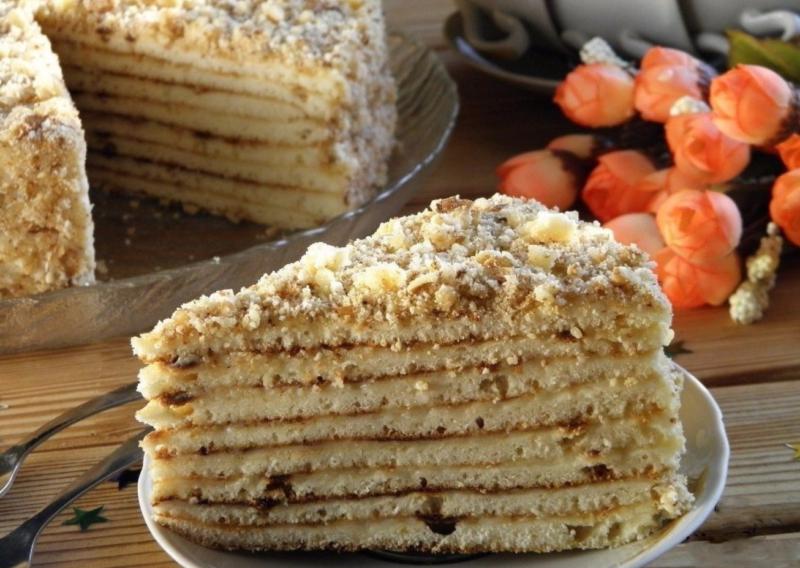 Быстрый десерт со сгущёнкой на сковороде