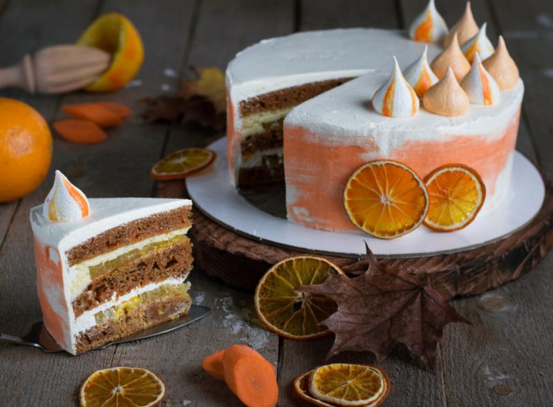 Морковный торт со сметанным кремом базовый