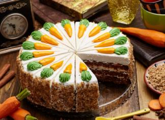 Морковный торт со сметанным кремом