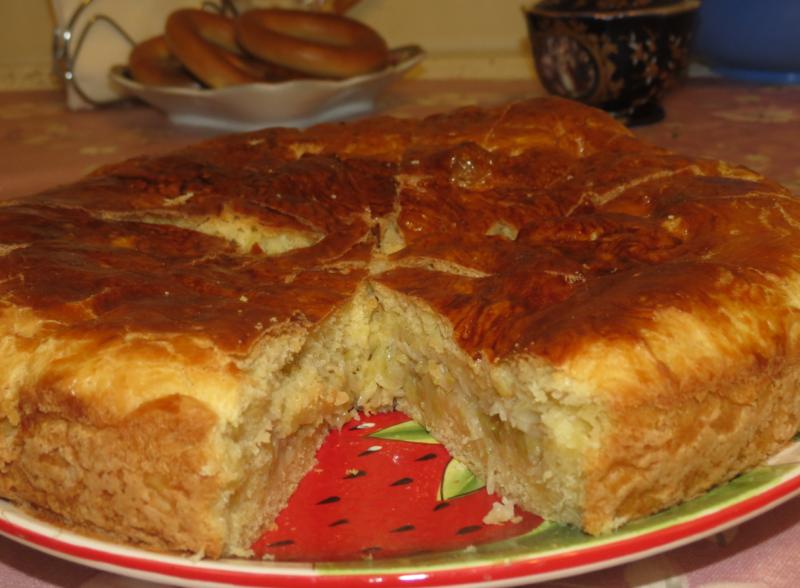 Пирог с капустой из дрожжевого теста на основе кефира