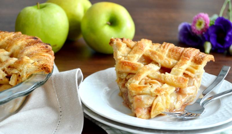 Открытый американский яблочный пирог
