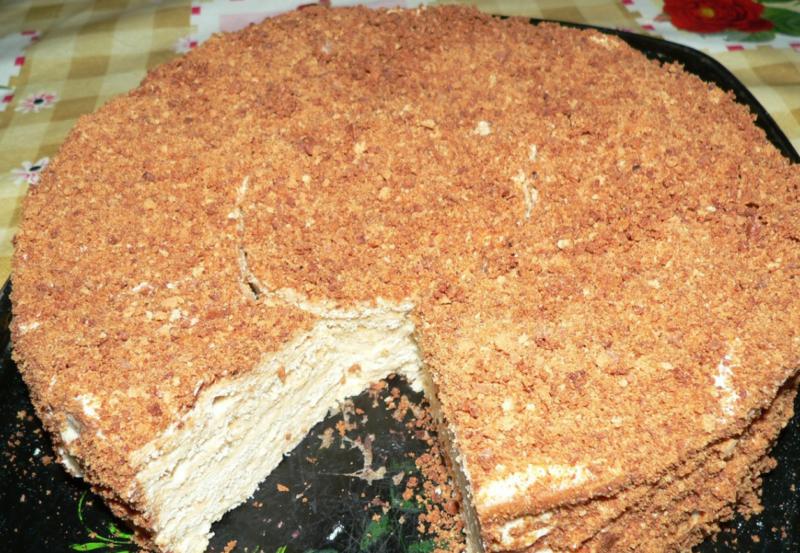 Торт Рыжик с манным кремом