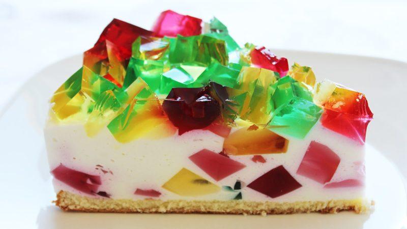 Торт «Битое стекло» желейный