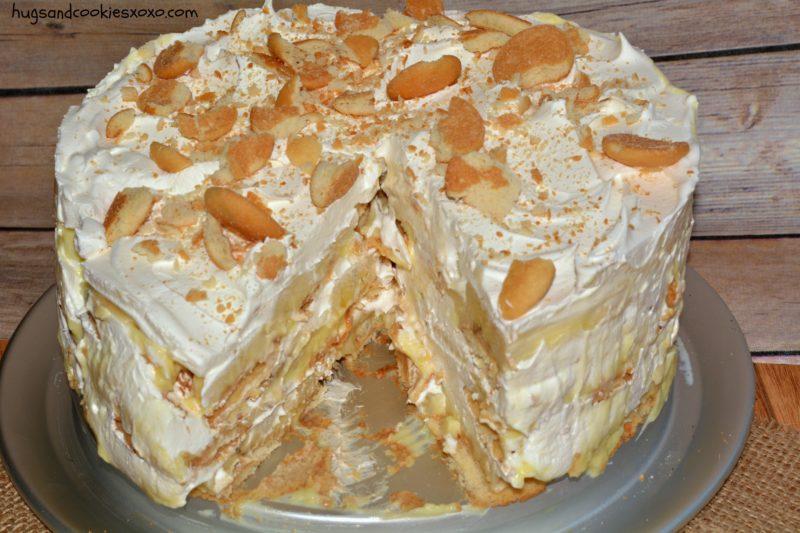 Торт из пряников без выпечки с банановым вкусом