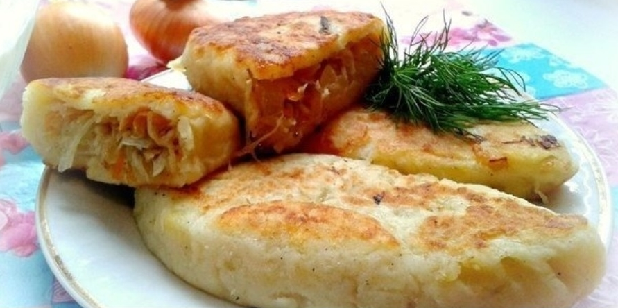 Постные пирожки с картошкой и капустой