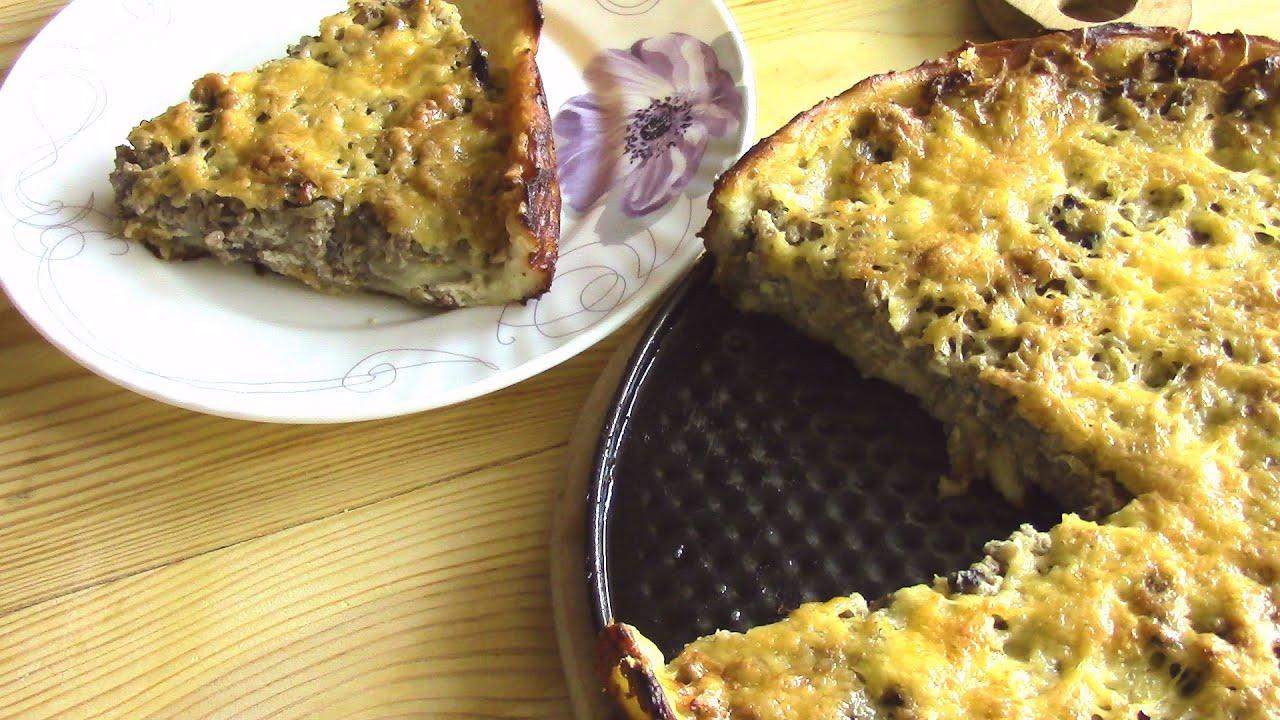 Открытый пирог с мясом и картофелем
