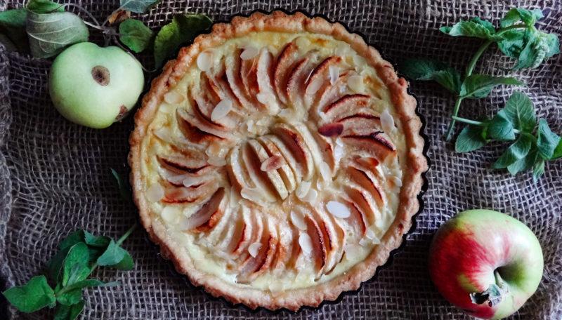 Яблочный тарт постный