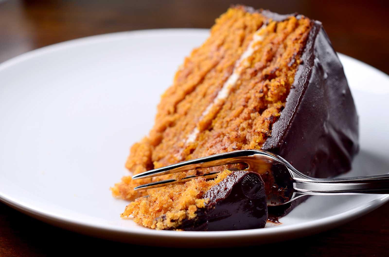 Тыквенный торт с шоколадом