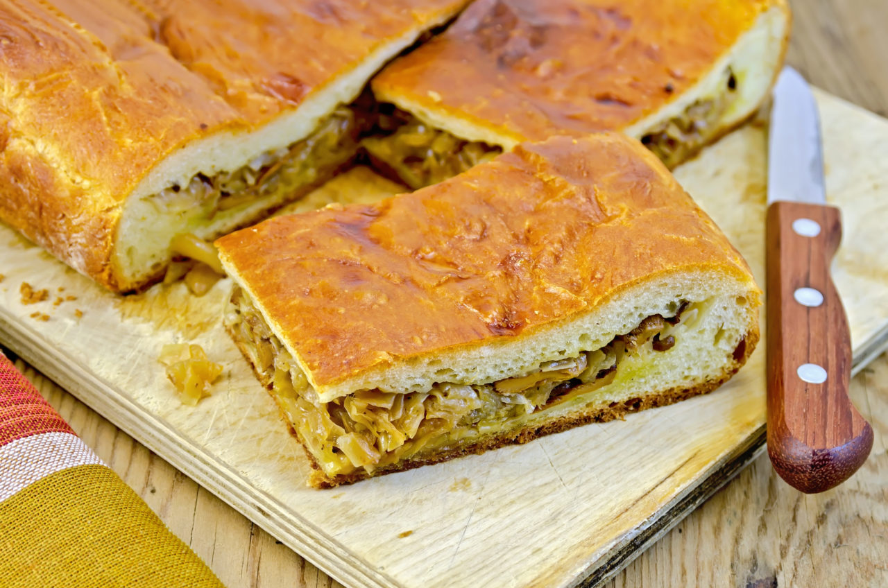 Жидкое тесто для пирога с капустой с дрожжами