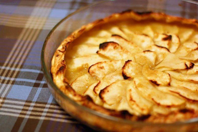 Яблочный тарт из слоёного теста