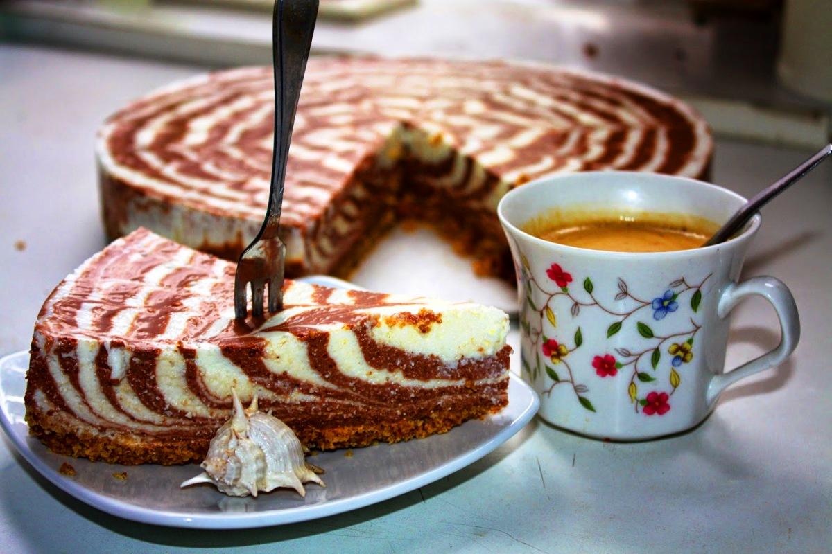 Торт творожный с шоколадно-лимонным вкусом