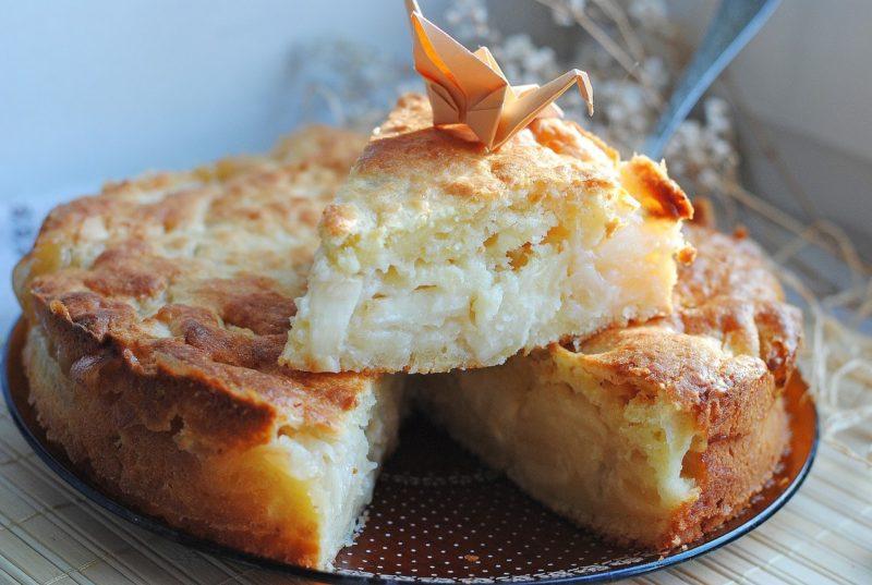 Творожно-яблочный пирог стандартный