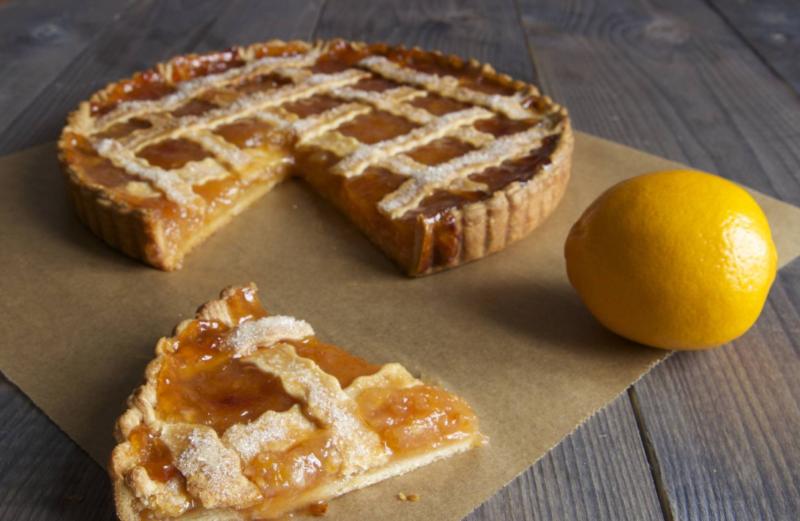 Лимонный пирог из песочного теста классический