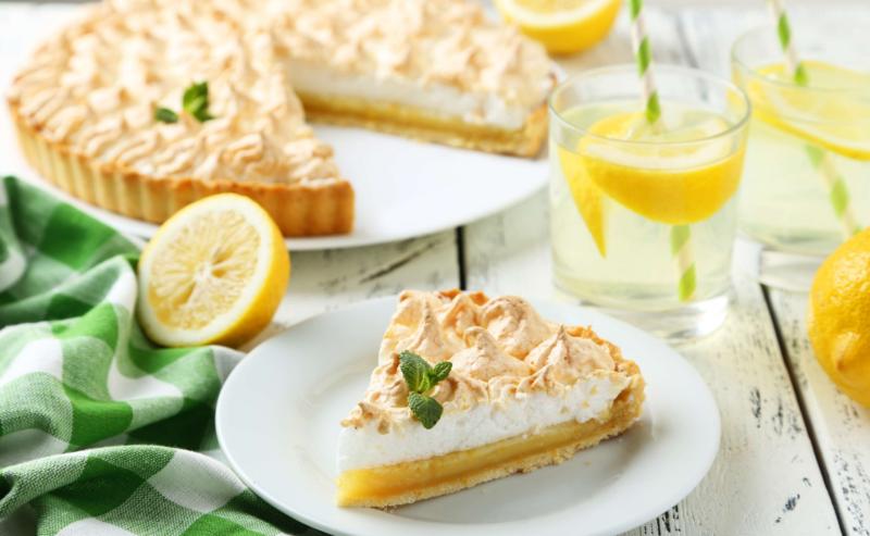 Красивый лимонный пирог из песочного теста
