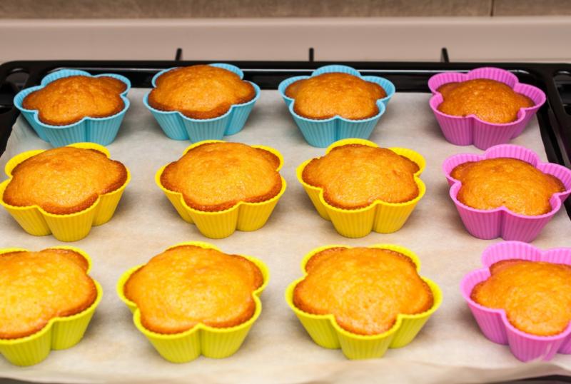 Лимонный кекс в формочках