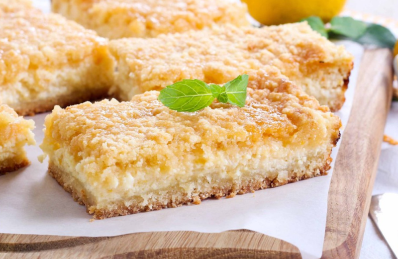 Лимонный кекс на твороге