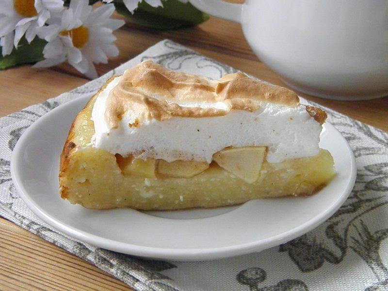 Королевский пирог пирог с яблоками и творогом
