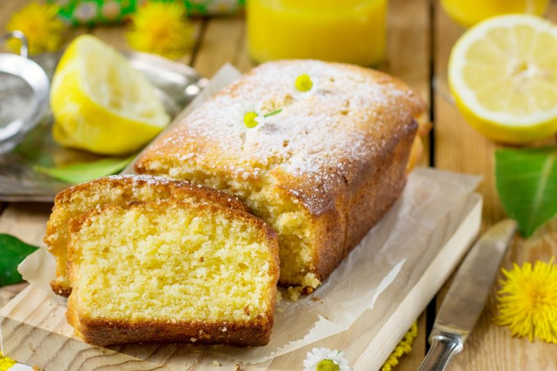 Постный лимонный кекс